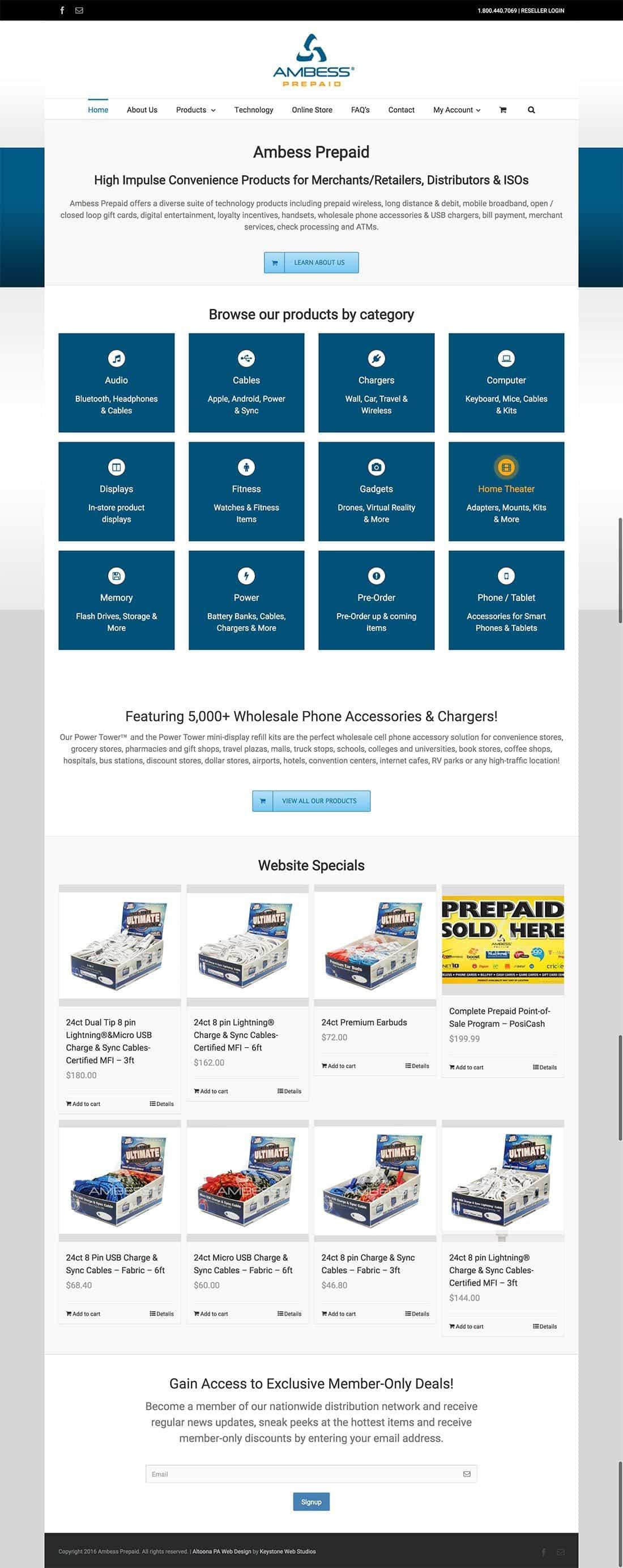 ECommerce Web Design in Altoona PA