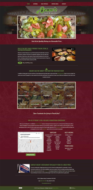 Restaurant Web Design in Altoona PA