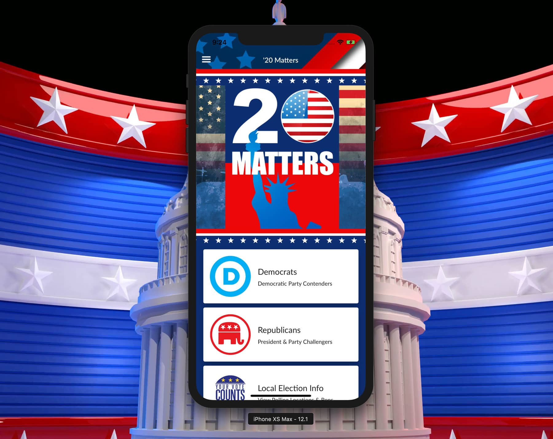 '20 Matters: Mobile app guide for the 2020 Election
